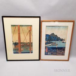 Two Utagawa Hiroshige Woodblock Prints