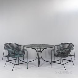 Russell Woodard Patio Table and Four Chairs