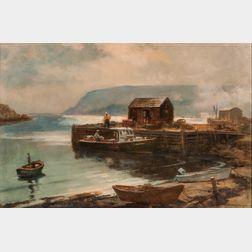 Harry Russell Ballinger (American, 1892-1993)      Cape Smokey, Nova Scotia