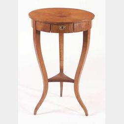 Biedermeier Maple Veneered Occasional Table