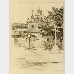 John Taylor Arms (American, 1887-1953)  Lot of Two Drawings of Chapels: