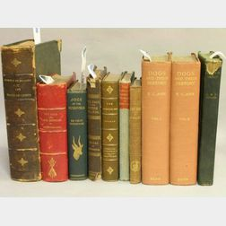 Group of Ten Mostly Leatherbound Dog Related Volumes