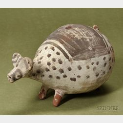 Pre-Columbian Painted Pottery Animal