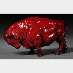 Royal Doulton Flambe Buffalo