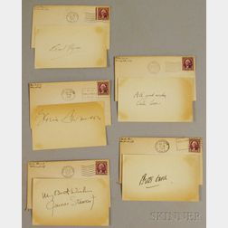 Errol Flynn, James Stewart, Bette Davis, Peter Lorre, and Gloria Swanson Autographs