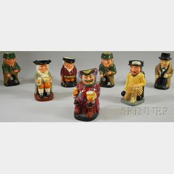 Seven Assorted Royal Doulton Ceramic Toby Jugs