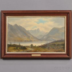 Benjamin Champney (American, 1817-1907)      New Hampshire Mountain Lake Scene.