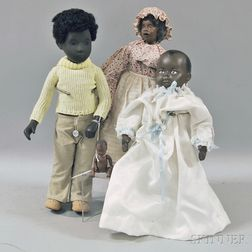 Four Miscellaneous African American Dolls