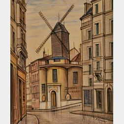 French School, 20th Century      Rue Lepic, Montmartre