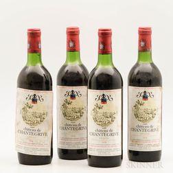 Chateau Chantegrive 1976, 4 bottles