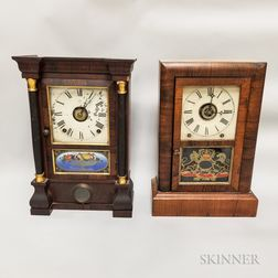 Two American Shelf Clocks