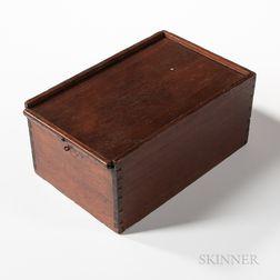 Walnut and Pine Slide-lid Box