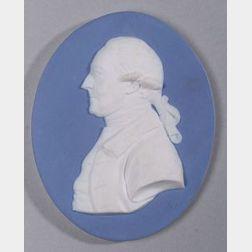 Wedgwood Blue Jasper Dip Oval Portrait Medallion of Sir Ashton Lever