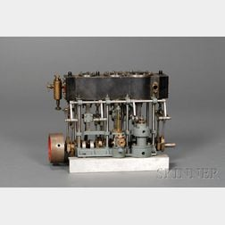 Working Model of a Stuart Triple Expansion Steam Engine