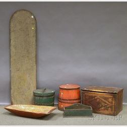 Six Assorted Painted Country Items
