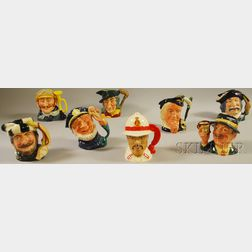 Eight Assorted Royal Doulton Ceramic Face Jugs