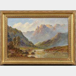 Frank E. Jamieson (British, 1834-1899)      Mountain Landscape with a Stream