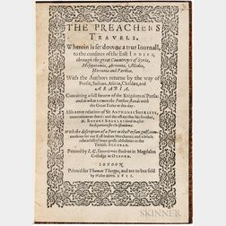 Cartwright, John, of Magdalen College, Oxford (fl. circa 1599) The Preachers Travels. Wherein is set downe a true Iournall, to the conf