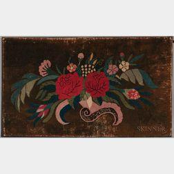 Floral Yarn-sewn Rug