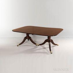 Georgian-style Double-pedestal Mahogany Dining Table