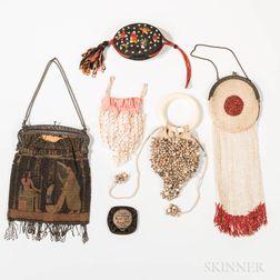 Seven Handbags and Change Purses