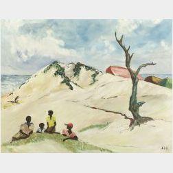 Haitian School, 20th Century  On the Dunes