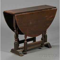 William & Mary Oak Drop-leaf Gate-leg Table