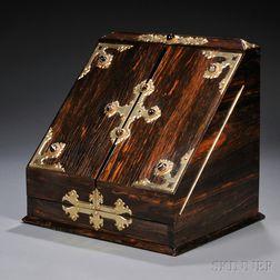 Victorian Brass-bound Calamander Stationery Box