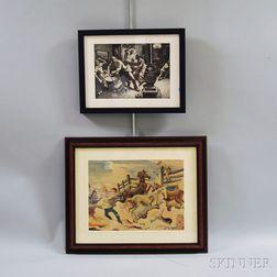 Two Photo Reproductions After Thomas Hart Benton (American, 1889-1975)