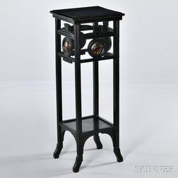 Victorian Eastlake-style Ebonized Pedestal