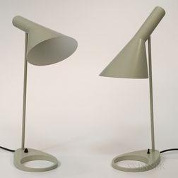 "Two Arne Jacobsen for Louis Poulsen ""AJ"" Table Lamps"