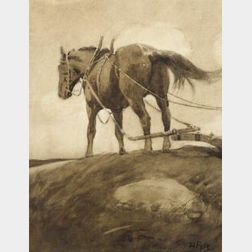 Attributed to Howard Pyle (American, 1853-1911)  The Plow Horse