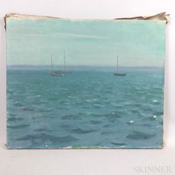 Charles Sydney Hopkinson (American, 1869-1962)      Seascape with Sailboats