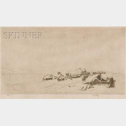 James McBey (British, 1883-1959)      Encampment in the Sinai
