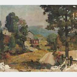 Frank Earle Schoonover (American, 1877-1972)      Will Eshbachs Farm--Bushkill
