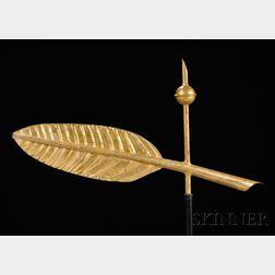 Gilt Copper Quill Pen Weathervane