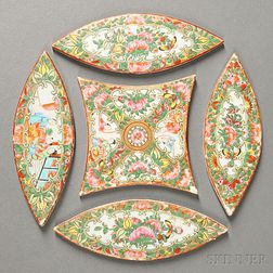 Five-piece Rose Medallion Porcelain Trivet