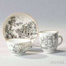 Three Pieces of Export Porcelain