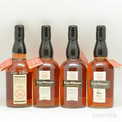 Evan Williams Single Barrel Vertical, 4 750ml bottles