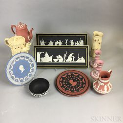 Twelve Modern Wedgwood Jasper Items
