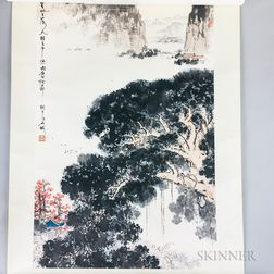 Hanging Scroll Depicting a Fall Landscape