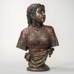 Austrian Bronze Bust of Rebecca