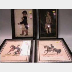 Four Framed Masculine Figures