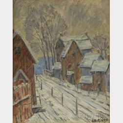 Edgar Otis Miner (American, 1915-2003)      Town in Winter