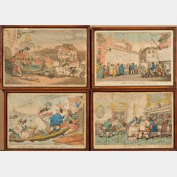 Thomas Rowlandson (British, 1756-1827)      Lot of Twenty Assorted Hand-colored Etchings on Paper.