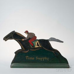 Time Supply   Racing Horse Sign