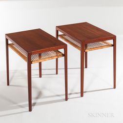Two Ludvig Pontoppidan Teak Side Tables
