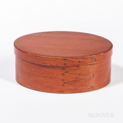 Bittersweet-painted Oval Shaker Pantry Box