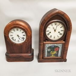 Two Connecticut Beehive Shelf Clocks
