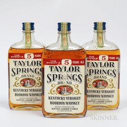 Taylor Springs 5 Years Old 1935, 3 pint bottles